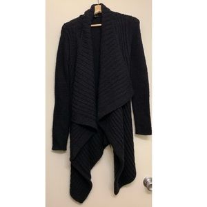 Express long black Wrap Cardigan thick knit small